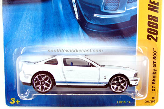 Hot Wheels Guide 07 Shelby Gt 500 2007 Ford Shelby Gt500