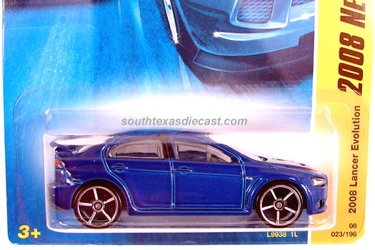 Hot Wheels Guide 2008 Mitsubishi Lancer Evolution