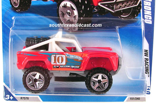 RED 2015 HOT WHEELS  loose = CUSTOM FORD BRONCO = SILVER