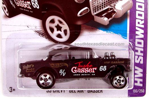 Hot Wheels 2013 HW Workshop 55 Chevy Bel Air Gasser 190//250 Black