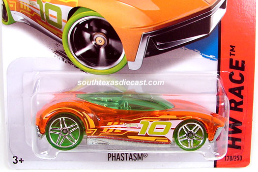 2014 hot wheels hw race x raycers clear orange w white yellow stripes