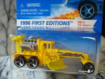 1996 Hot Wheels First Editions Street Cleaver SB No Tampos 373