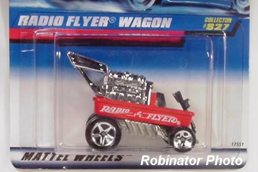 HOT WHEELS loose = RADIO FLYER WAGON = RED
