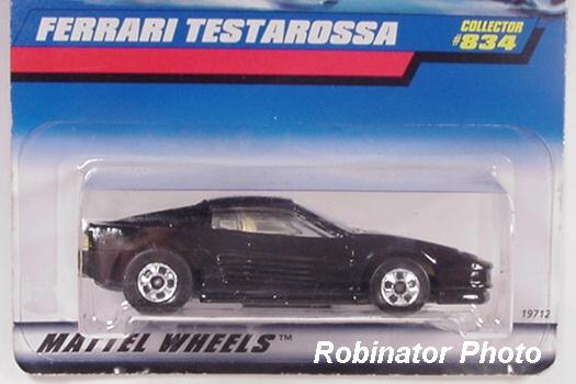 Hot Wheels Ferrari Testarossa #834 Black