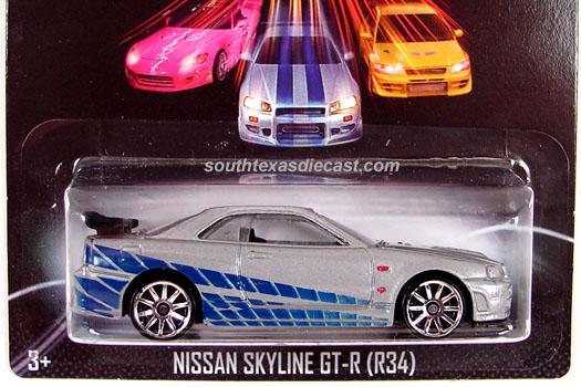 Hot Wheels Guide Nissan Skyline Gt R R34